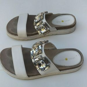 Seven Dials Slip on Jeweled Sandals